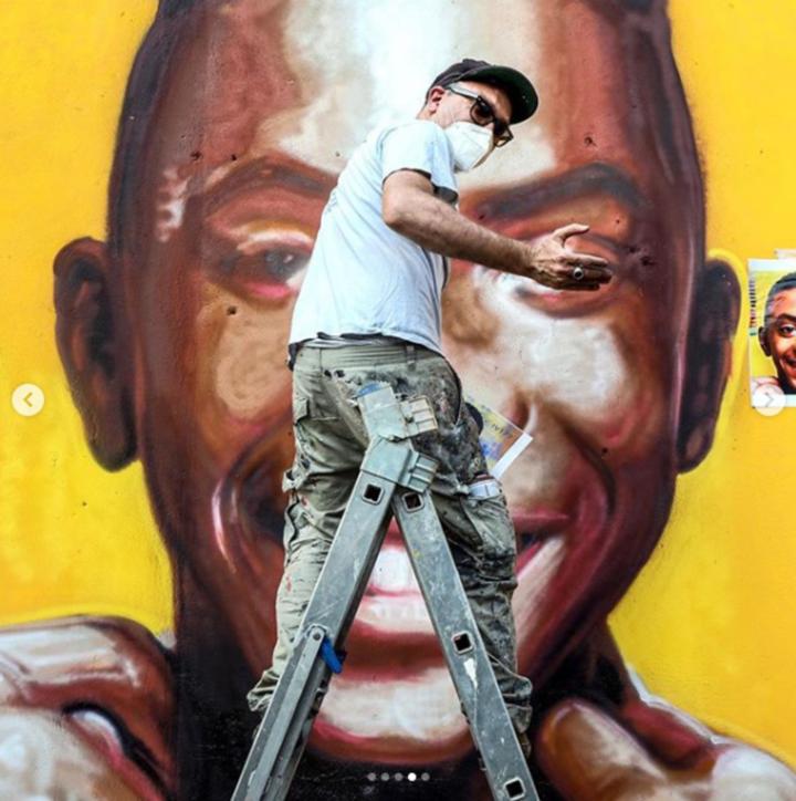 Paliano, realizzato un murale in memoria di Willy Monteiro Duarte