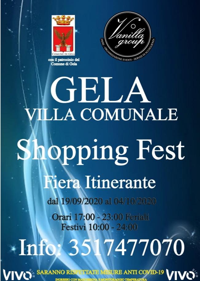 GELA, VILLA COMUNALE: SHOPPING FEST ✨ FIERA ITINERANTE