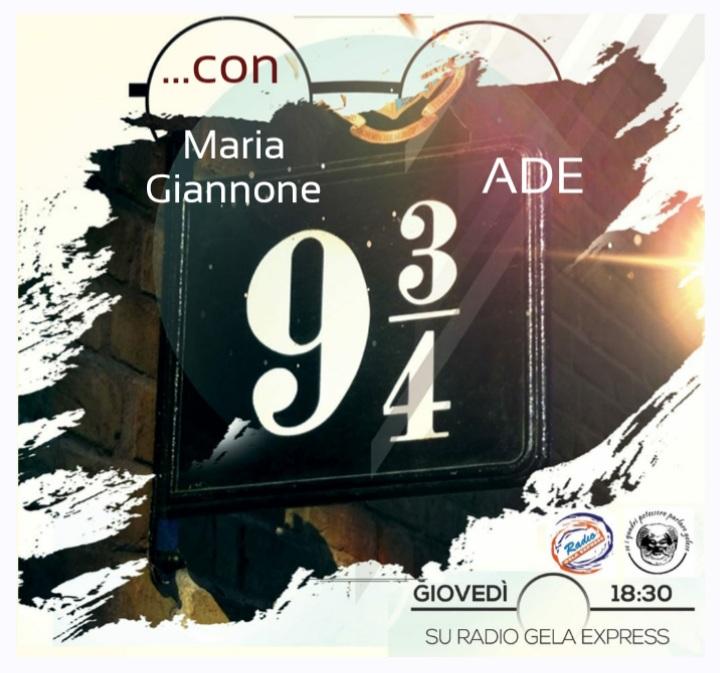 Nove e 3/4  del 25 Febbraio 2021 ✨condotto da Maria Giannone e dalla voce fuoricampo di ADE 🔊 oggi ospiti : Fabiano Fiaccabrino, Antonio Cuvato e Gianni Nanfa